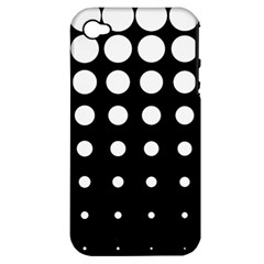 Circle Masks White Black Apple Iphone 4/4s Hardshell Case (pc+silicone) by Alisyart