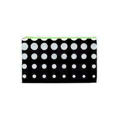 Circle Masks White Black Cosmetic Bag (xs) by Alisyart