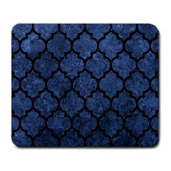 Tile1 Black Marble & Blue Stone (r) Large Mousepad by trendistuff