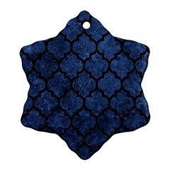 Tile1 Black Marble & Blue Stone (r) Ornament (snowflake) by trendistuff