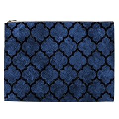 Tile1 Black Marble & Blue Stone (r) Cosmetic Bag (xxl) by trendistuff