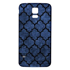 Tile1 Black Marble & Blue Stone (r) Samsung Galaxy S5 Back Case (white) by trendistuff
