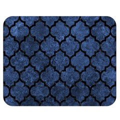 Tile1 Black Marble & Blue Stone (r) Double Sided Flano Blanket (medium)