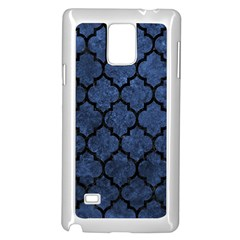 Tile1 Black Marble & Blue Stone (r) Samsung Galaxy Note 4 Case (white) by trendistuff