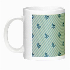 Blue Butterfly Line Animals Fly Night Luminous Mugs