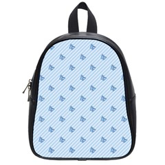 Blue Butterfly Line Animals Fly School Bags (small)  by Alisyart