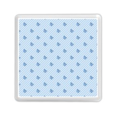 Blue Butterfly Line Animals Fly Memory Card Reader (square)