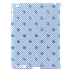 Blue Butterfly Line Animals Fly Apple Ipad 3/4 Hardshell Case (compatible With Smart Cover) by Alisyart