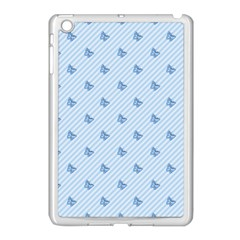 Blue Butterfly Line Animals Fly Apple Ipad Mini Case (white) by Alisyart