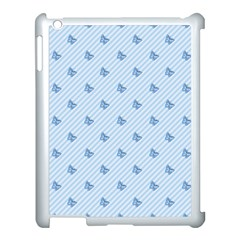 Blue Butterfly Line Animals Fly Apple Ipad 3/4 Case (white)