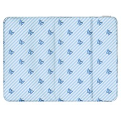 Blue Butterfly Line Animals Fly Samsung Galaxy Tab 7  P1000 Flip Case