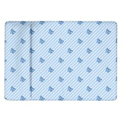 Blue Butterfly Line Animals Fly Samsung Galaxy Tab 10 1  P7500 Flip Case