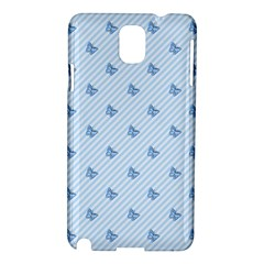 Blue Butterfly Line Animals Fly Samsung Galaxy Note 3 N9005 Hardshell Case by Alisyart