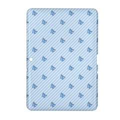 Blue Butterfly Line Animals Fly Samsung Galaxy Tab 2 (10 1 ) P5100 Hardshell Case  by Alisyart