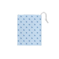 Blue Butterfly Line Animals Fly Drawstring Pouches (xs)  by Alisyart