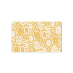 Wheels Star Gold Circle Yellow Magnet (name Card) by Alisyart