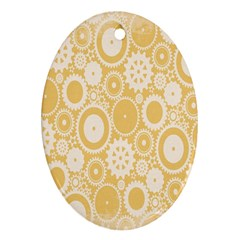 Wheels Star Gold Circle Yellow Oval Ornament (two Sides) by Alisyart