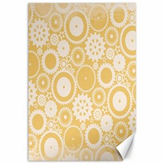 Wheels Star Gold Circle Yellow Canvas 12  X 18   by Alisyart