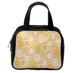 Wheels Star Gold Circle Yellow Classic Handbags (one Side) by Alisyart