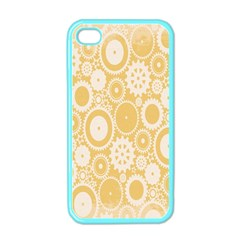 Wheels Star Gold Circle Yellow Apple Iphone 4 Case (color)