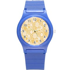 Wheels Star Gold Circle Yellow Round Plastic Sport Watch (s) by Alisyart