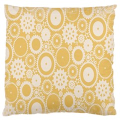Wheels Star Gold Circle Yellow Large Cushion Case (two Sides) by Alisyart