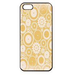 Wheels Star Gold Circle Yellow Apple Iphone 5 Seamless Case (black)