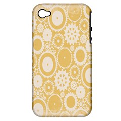 Wheels Star Gold Circle Yellow Apple Iphone 4/4s Hardshell Case (pc+silicone)