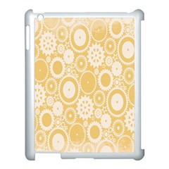 Wheels Star Gold Circle Yellow Apple Ipad 3/4 Case (white)
