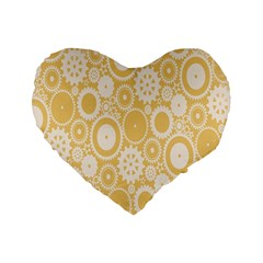 Wheels Star Gold Circle Yellow Standard 16  Premium Heart Shape Cushions