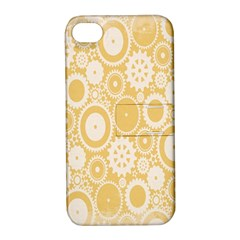Wheels Star Gold Circle Yellow Apple Iphone 4/4s Hardshell Case With Stand by Alisyart