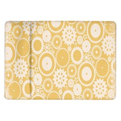 Wheels Star Gold Circle Yellow Samsung Galaxy Tab 10 1  P7500 Flip Case
