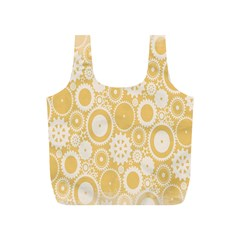 Wheels Star Gold Circle Yellow Full Print Recycle Bags (s)