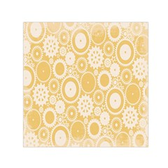 Wheels Star Gold Circle Yellow Small Satin Scarf (square) by Alisyart