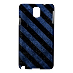 Stripes3 Black Marble & Blue Stone (r) Samsung Galaxy Note 3 N9005 Hardshell Case by trendistuff
