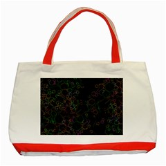 Boxs Black Background Pattern Classic Tote Bag (red) by Simbadda