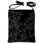 Boxs Black Background Pattern Shoulder Sling Bags Front