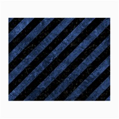 Stripes3 Black Marble & Blue Stone Small Glasses Cloth by trendistuff