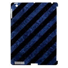 Stripes3 Black Marble & Blue Stone Apple Ipad 3/4 Hardshell Case (compatible With Smart Cover) by trendistuff