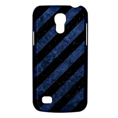 Stripes3 Black Marble & Blue Stone Samsung Galaxy S4 Mini (gt I9190) Hardshell Case  by trendistuff