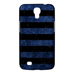 Stripes2 Black Marble & Blue Stone Samsung Galaxy Mega 6 3  I9200 Hardshell Case by trendistuff