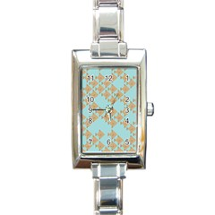 Fish Animals Brown Blue Line Sea Beach Rectangle Italian Charm Watch by Alisyart