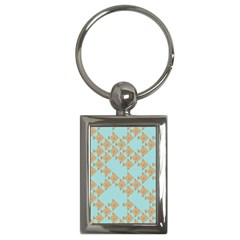 Fish Animals Brown Blue Line Sea Beach Key Chains (rectangle)