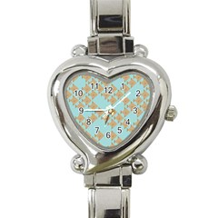 Fish Animals Brown Blue Line Sea Beach Heart Italian Charm Watch by Alisyart