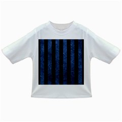 Stripes1 Black Marble & Blue Stone Infant/toddler T Shirt by trendistuff