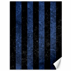 Stripes1 Black Marble & Blue Stone Canvas 36  X 48  by trendistuff
