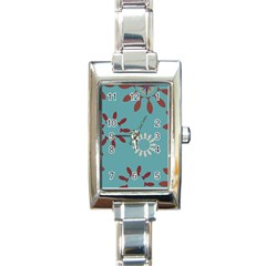 Fish Animals Star Brown Blue White Rectangle Italian Charm Watch by Alisyart