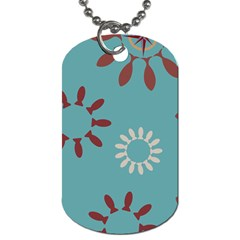 Fish Animals Star Brown Blue White Dog Tag (one Side) by Alisyart