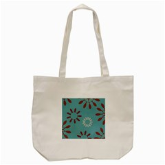 Fish Animals Star Brown Blue White Tote Bag (cream)