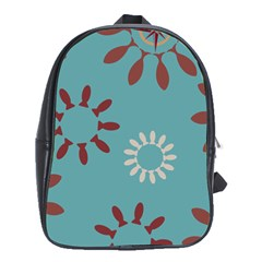 Fish Animals Star Brown Blue White School Bags (xl)  by Alisyart